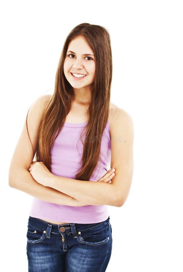 Retrato de un adolescente de la muchacha fotografía de archivo