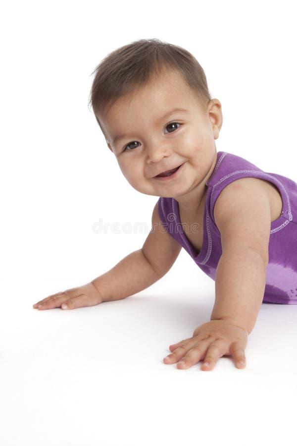 Retrato de un bebé feliz fotografía de archivo libre de regalías