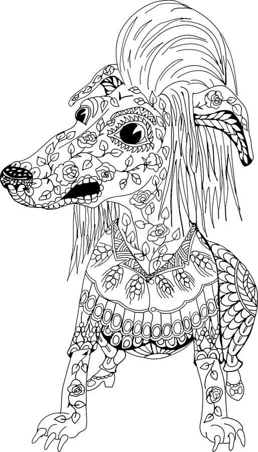 Retrato de un chucho enojado libre illustration