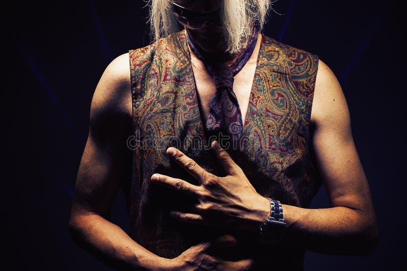 Retrato de un Clubber envejecido centro fotografía de archivo