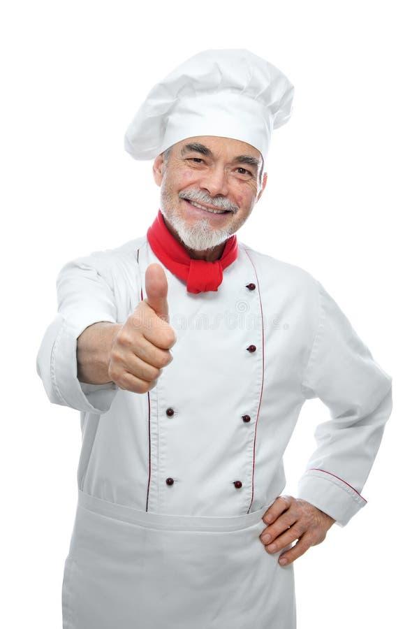 Retrato de un cocinero hermoso imágenes de archivo libres de regalías