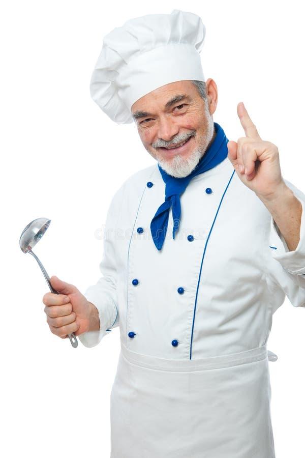 Retrato de un cocinero hermoso fotos de archivo