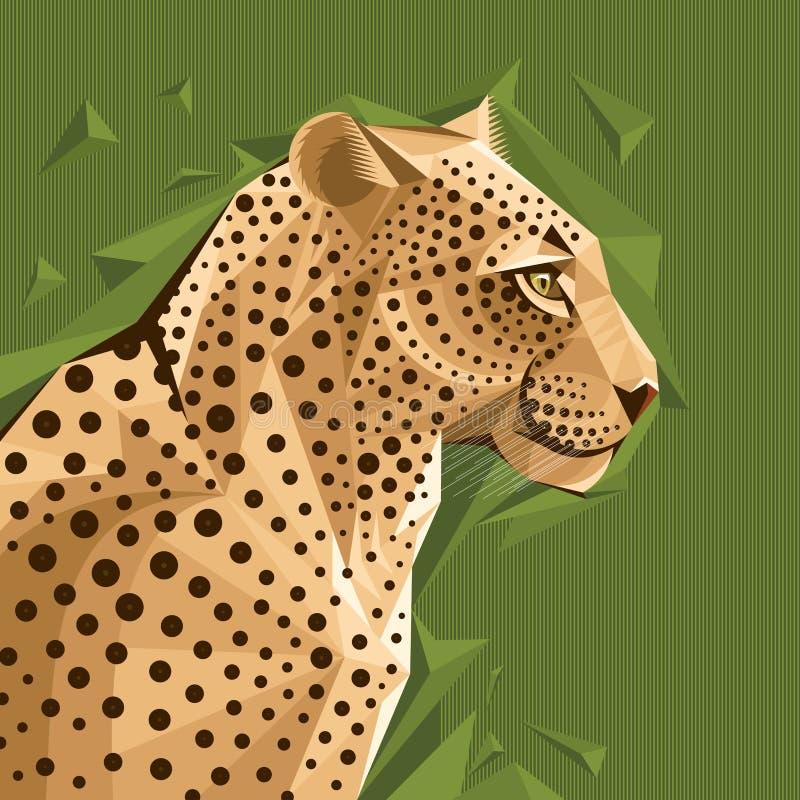 Retrato de un ejemplo del vector del leopardo ilustración del vector