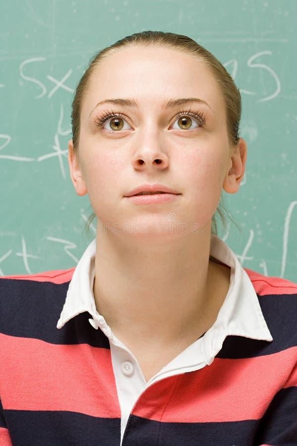 Retrato de un estudiante femenino imagen de archivo libre de regalías