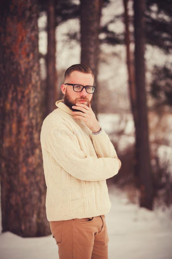 Retrato de un hombre con una barba fotografía de archivo