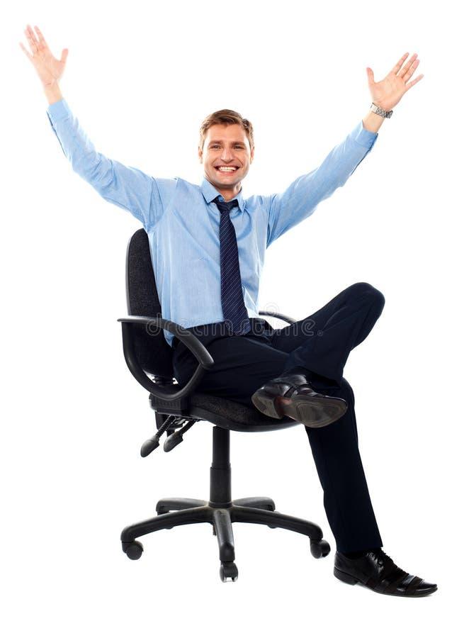 Retrato de un hombre de negocios acertado foto de archivo