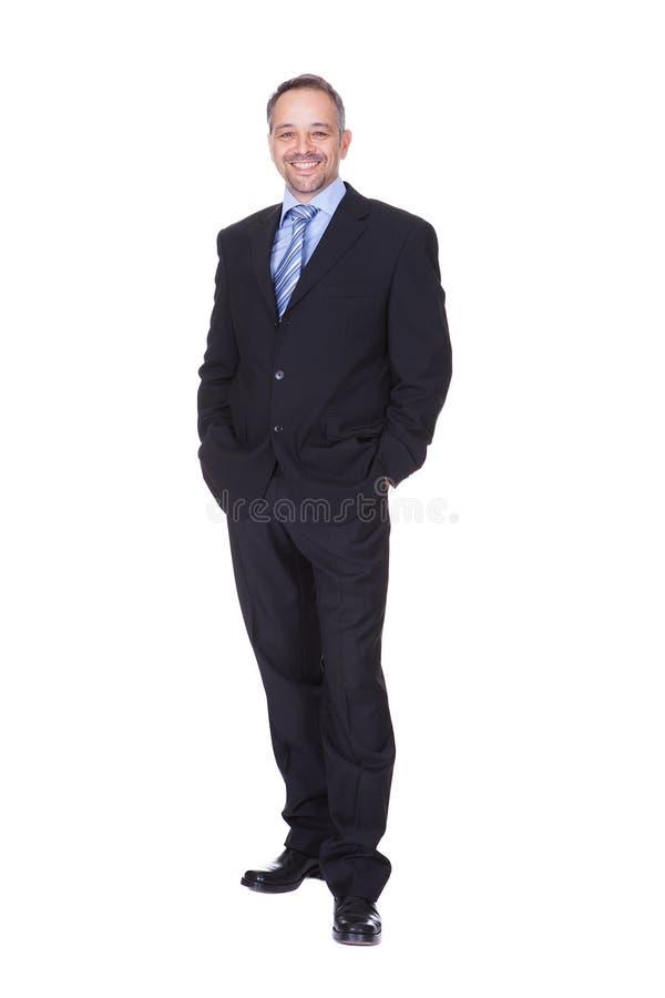 Retrato de un hombre de negocios feliz fotos de archivo libres de regalías