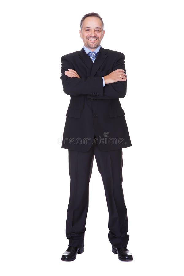 Retrato de un hombre de negocios feliz foto de archivo libre de regalías