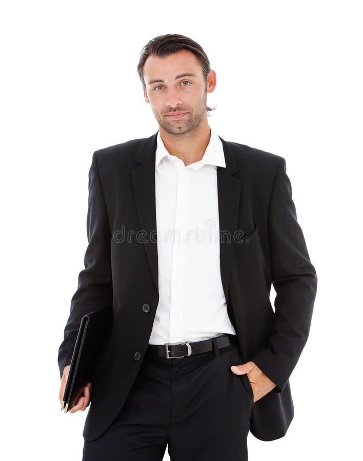 Retrato de un hombre de negocios joven confiado fotos de archivo