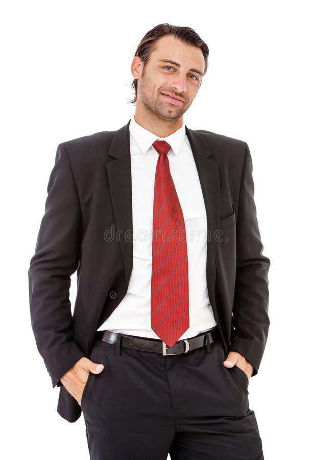 Retrato de un hombre de negocios joven confiado imagen de archivo