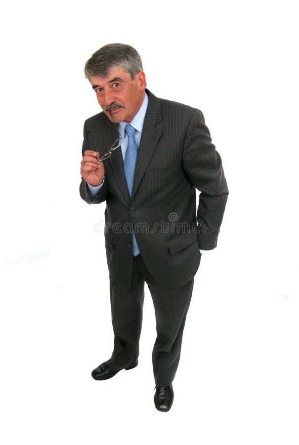 Retrato de un hombre de negocios mayor fotos de archivo