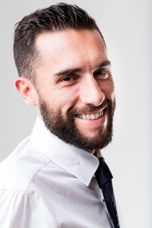 Retrato de un hombre de negocios sonriente fotografía de archivo