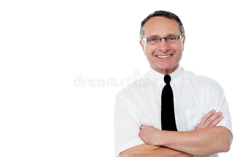 Retrato de un hombre de negocios sonriente mayor imagen de archivo libre de regalías