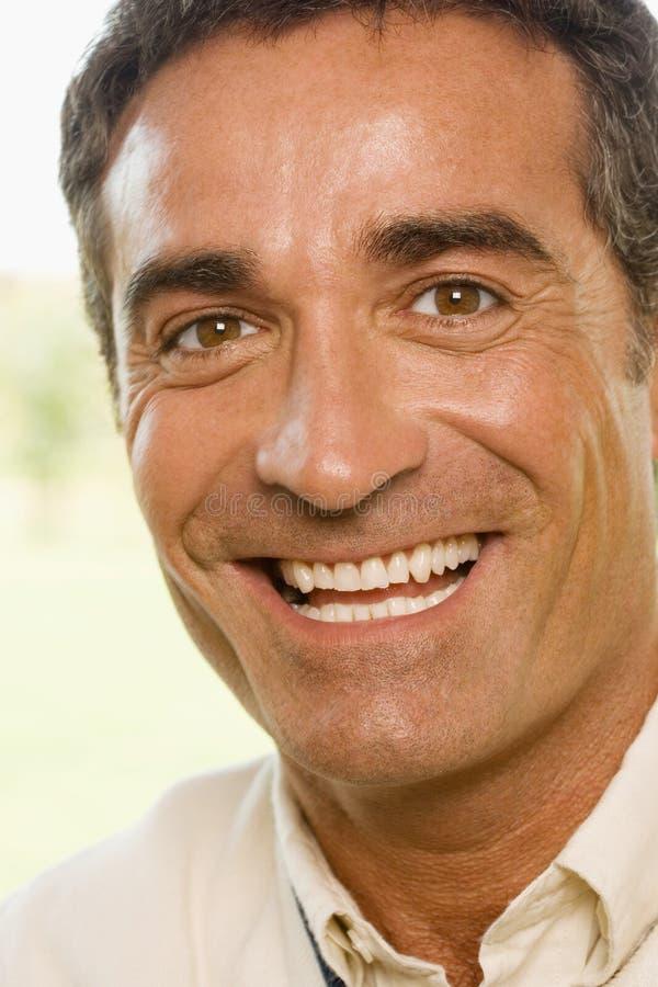Retrato de un hombre feliz fotos de archivo