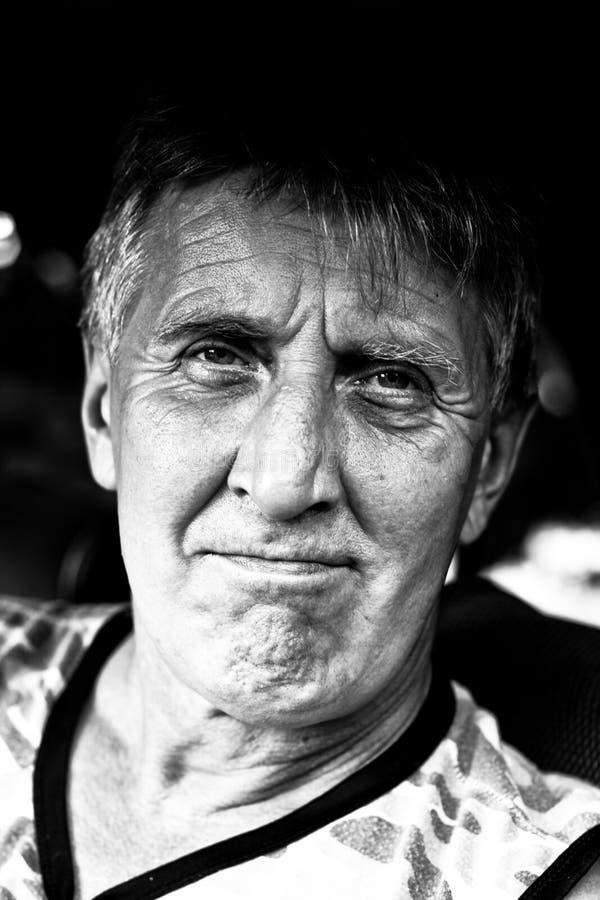Retrato de un hombre maduro. fotografía de archivo