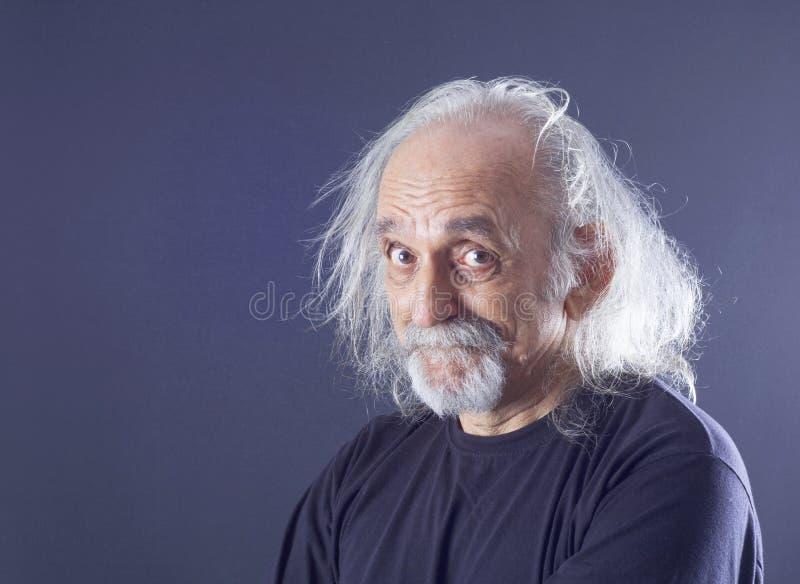 Retrato de un hombre mayor foto de archivo libre de regalías