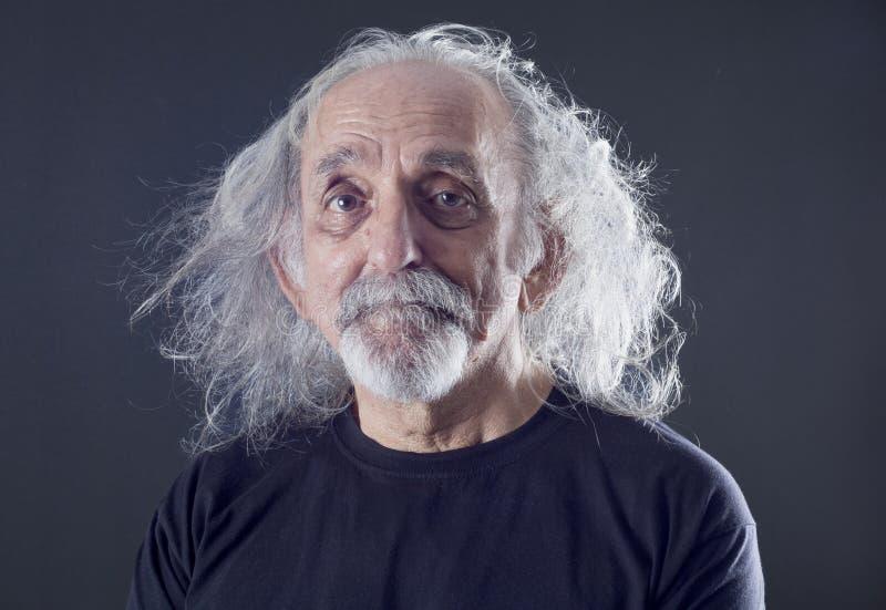 Retrato de un hombre mayor fotografía de archivo libre de regalías