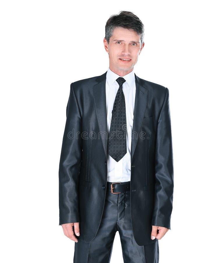 Retrato de un hombre de negocios joven Aislado en blanco imagen de archivo