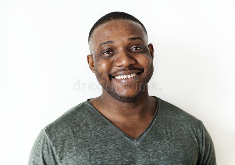 Retrato de un hombre negro fotografía de archivo libre de regalías