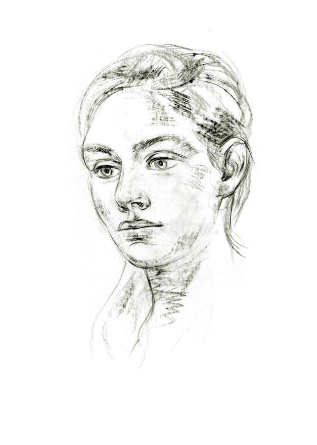 Retrato de un lápiz libre illustration