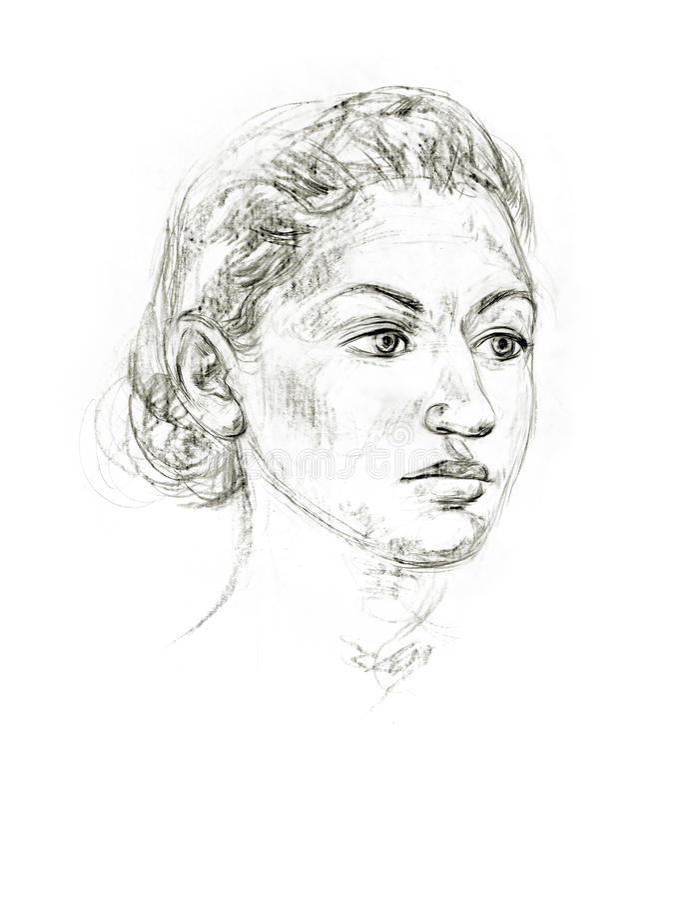 Retrato de un lápiz stock de ilustración