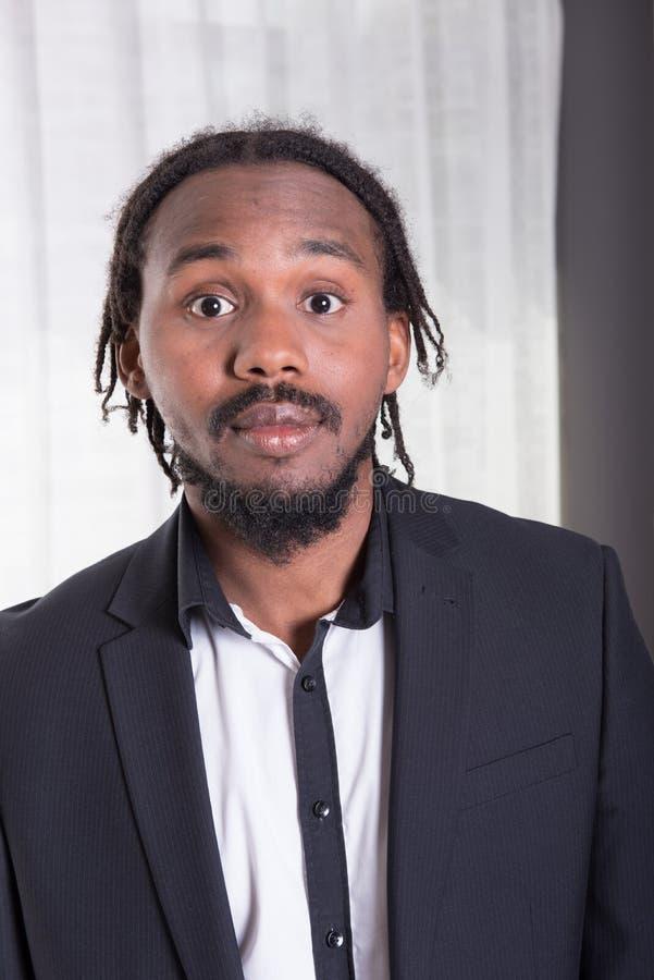 Retrato de un músico africano fotografía de archivo libre de regalías