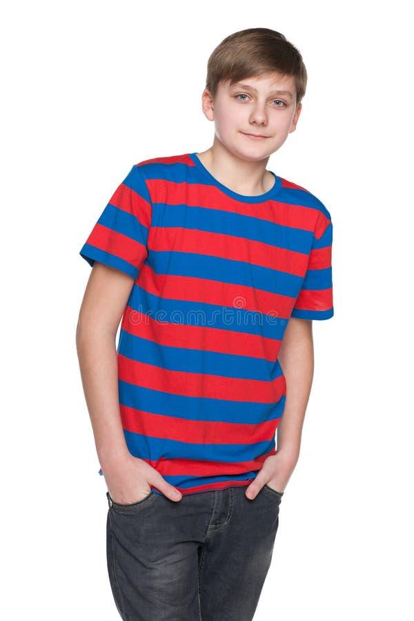 Retrato de un muchacho del adolescente fotos de archivo