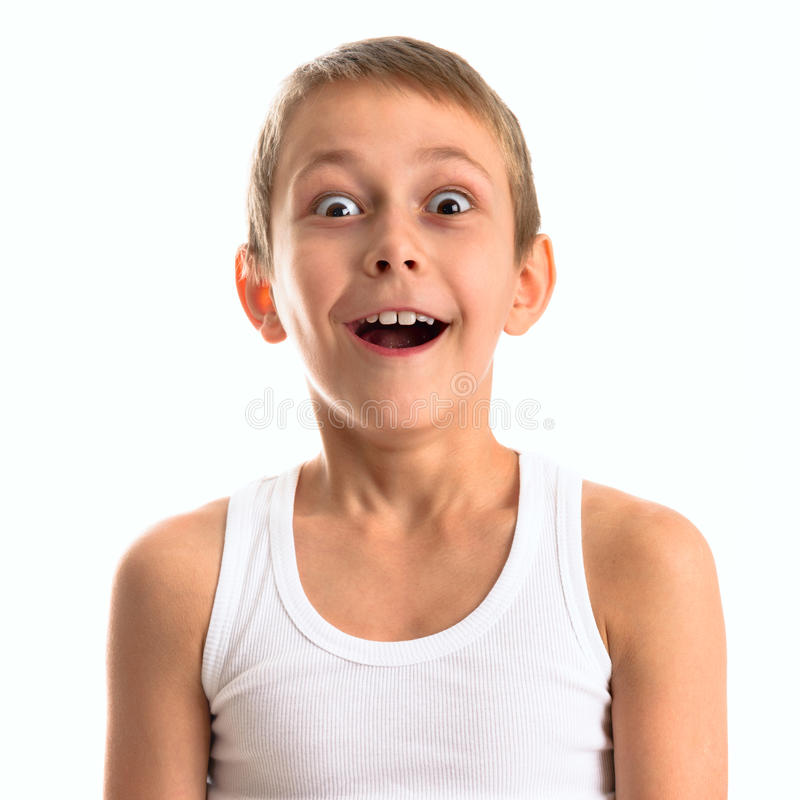 Retrato de un muchacho lindo feliz imagenes de archivo
