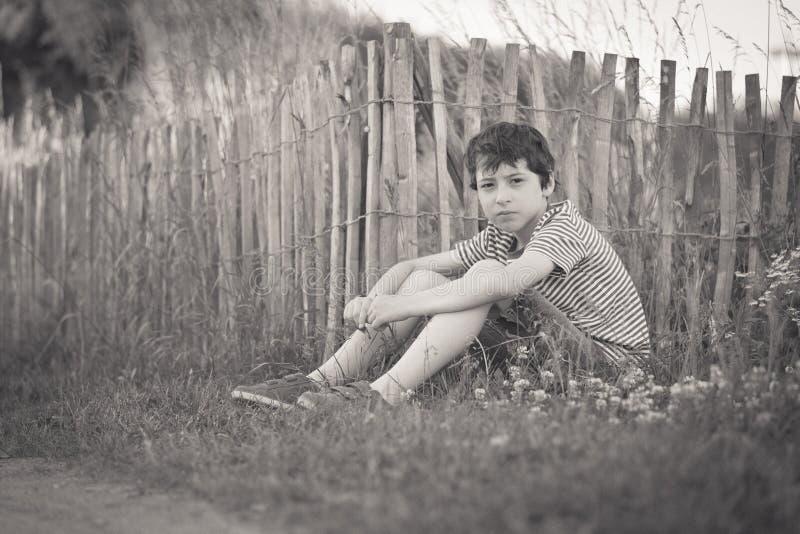 Retrato de un muchacho imagen de archivo