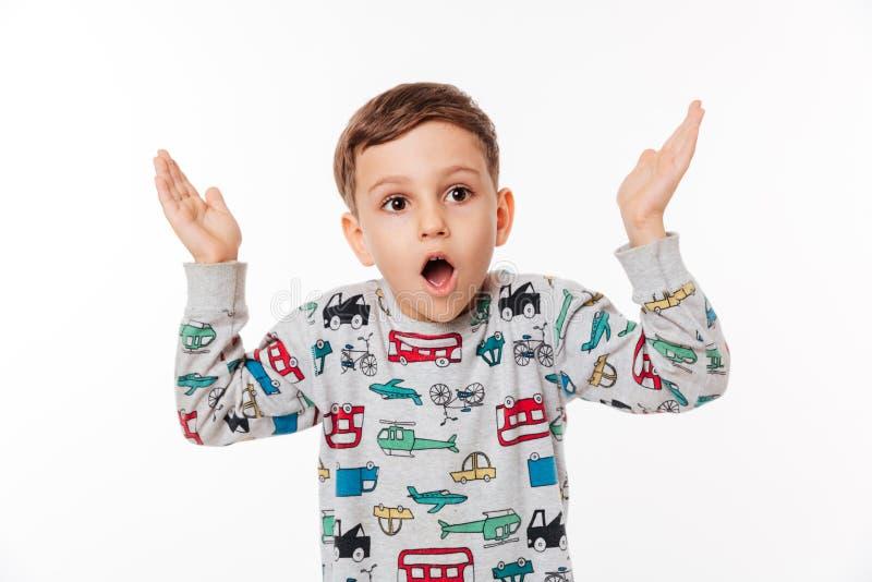 Retrato de un niño chocado imagen de archivo