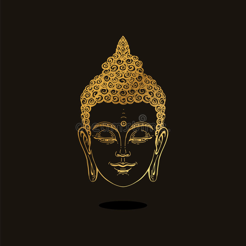 Retrato de un oro Buda libre illustration