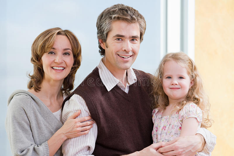 Retrato de un padre y de una hija fotos de archivo