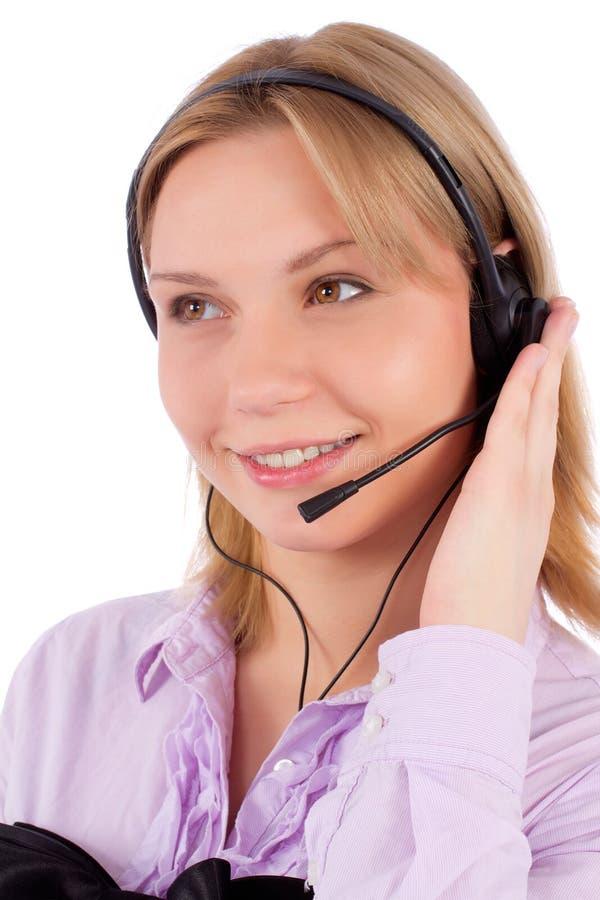 Retrato de un servicio de atención al cliente femenino imagen de archivo