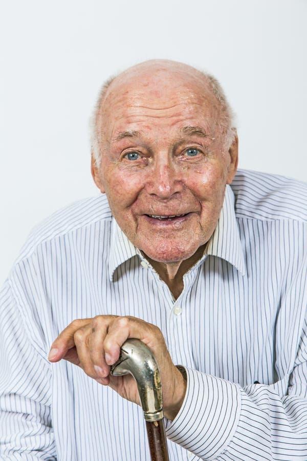 Retrato de un viejo hombre imagen de archivo