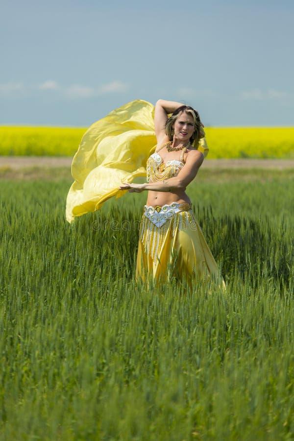 Retrato de una bailarina de la danza del vientre hermosa imagen de archivo