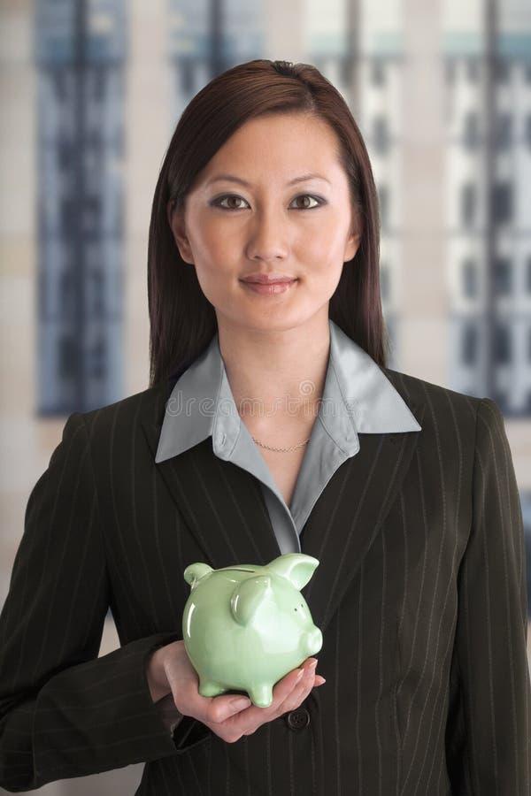 Retrato de una empresaria frugal fotografía de archivo libre de regalías