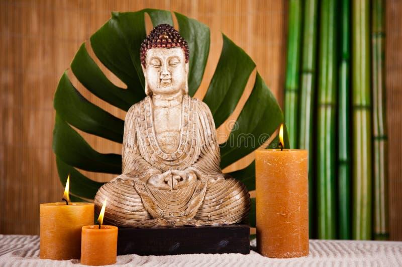 Retrato de una estatua de Buddha imagen de archivo libre de regalías