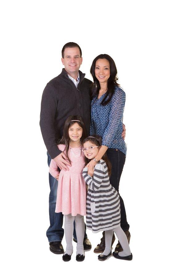 Retrato de una familia fotos de archivo libres de regalías