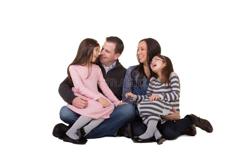 Retrato de una familia imagenes de archivo
