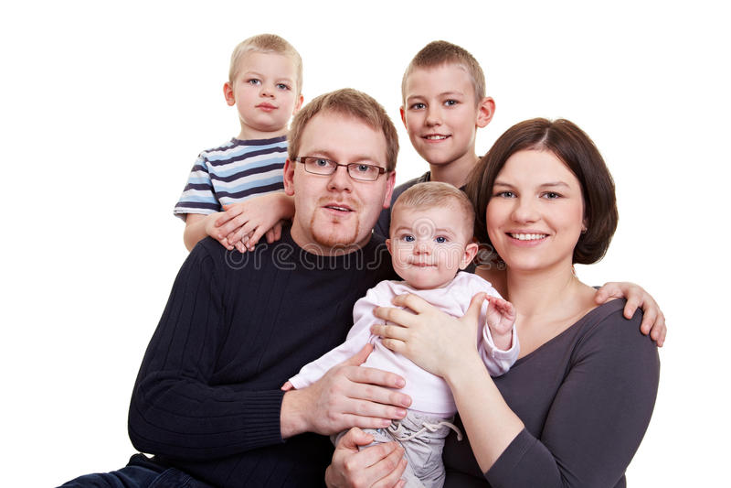 Retrato de una familia extensa foto de archivo libre de regalías