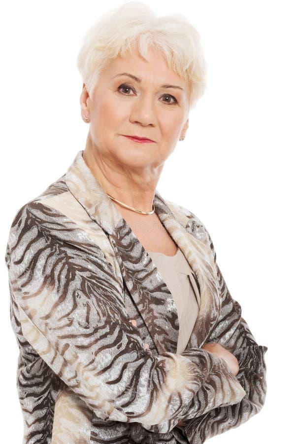 Retrato de una más vieja mujer. foto de archivo libre de regalías