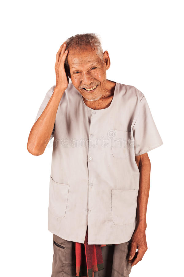 Retrato de una más vieja sonrisa imagen de archivo