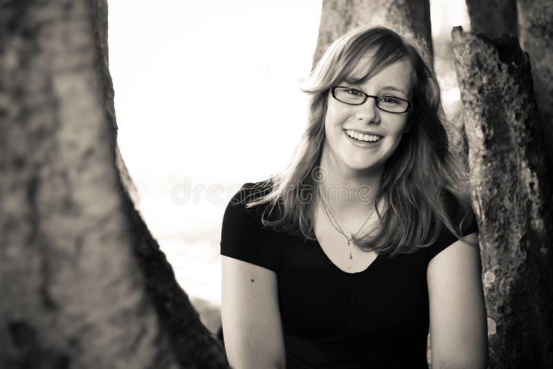 Retrato de una muchacha fotos de archivo