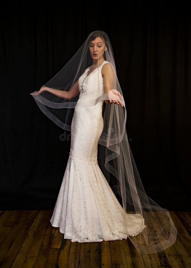 Retrato de una muchacha en la imagen de la novia foto de archivo libre de regalías