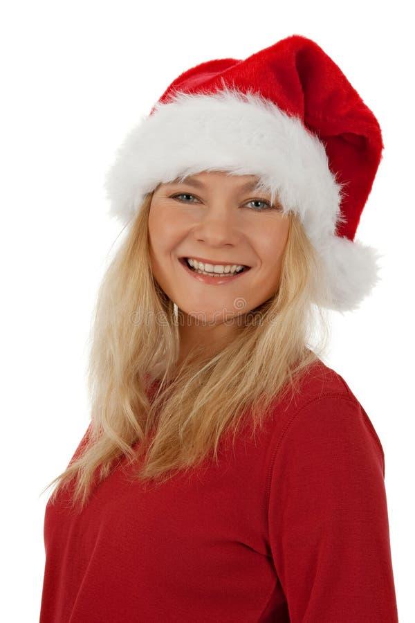 Retrato de una muchacha sonriente de la Navidad imágenes de archivo libres de regalías