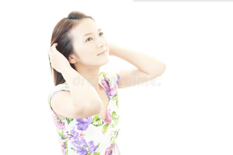 Retrato de una mujer asiática joven fotos de archivo