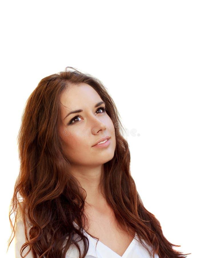 Retrato de una mujer de negocios atractiva joven foto de archivo