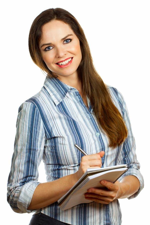 Retrato de una mujer de negocios hermosa joven fotografía de archivo libre de regalías