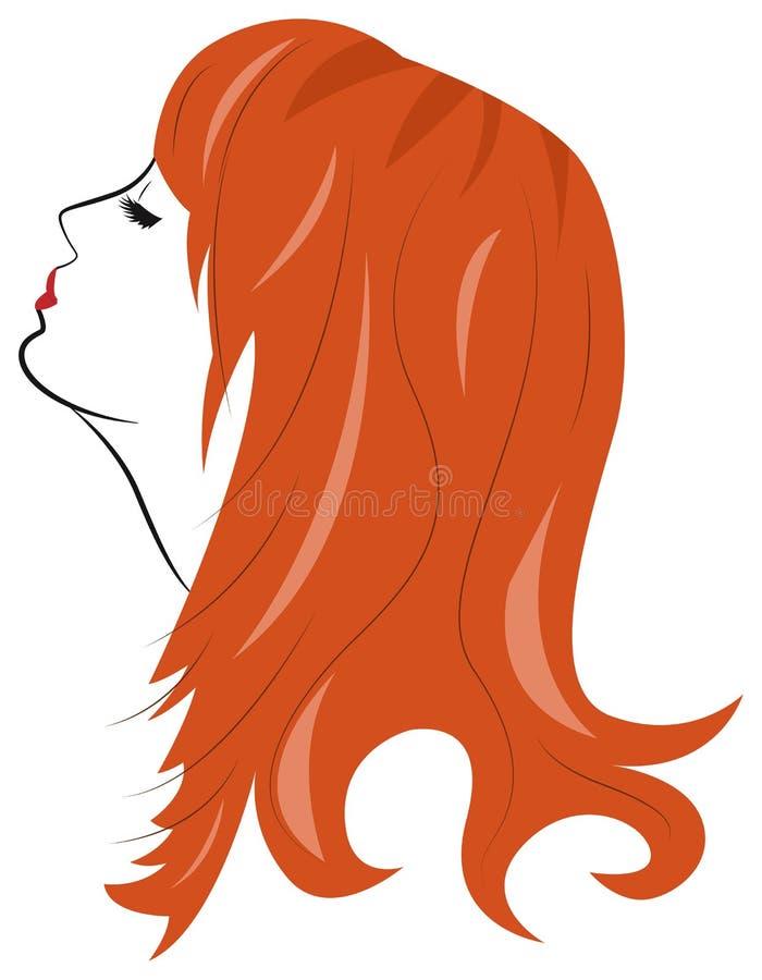 Retrato de una mujer en perfil libre illustration