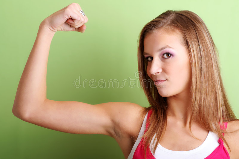 Retrato de una mujer fuerte foto de archivo libre de regalías